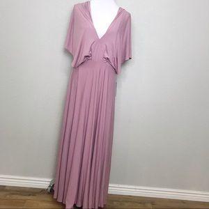 Lulus dusty mauve kimono style stretchy maxi dress